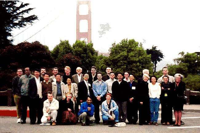 Group by the Golden Gate Bridge