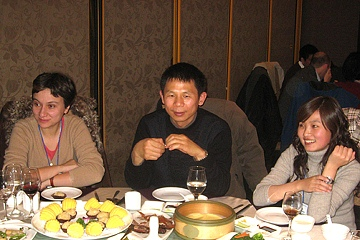 Dinner shared by faculty and participants