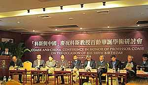 Beijing              conference for Ronald Coase's 100th birthday