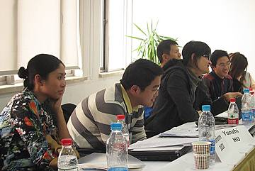 Participants listen to ideas