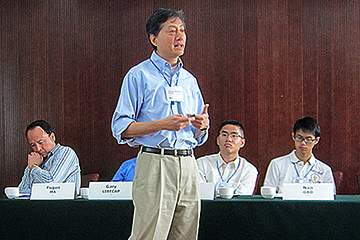James Kung speaks at conference