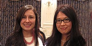 2014 ISNIE prize winners Jenny Guardado and Meina Cai